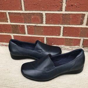 Clarks Gael Feline Blue Leather Loafers 11 M
